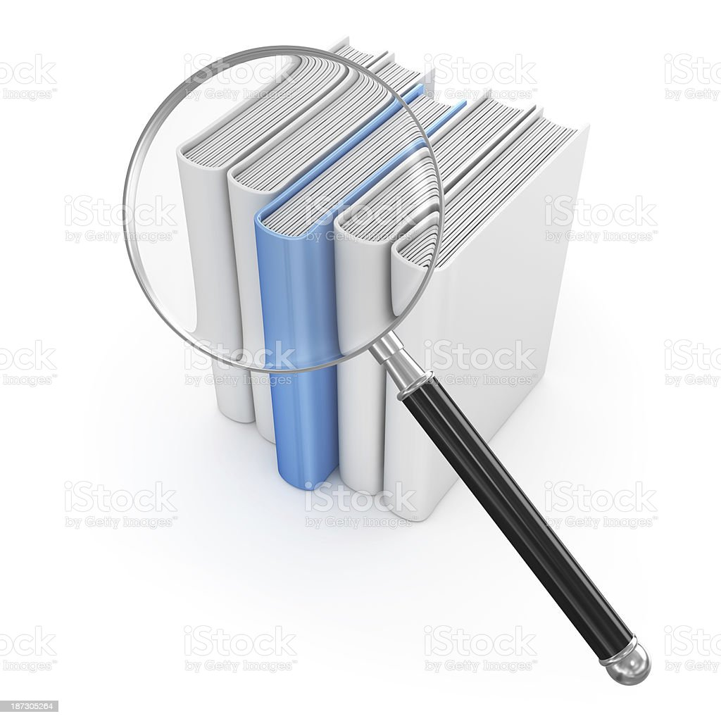 Searching in Library royalty-free stock photo