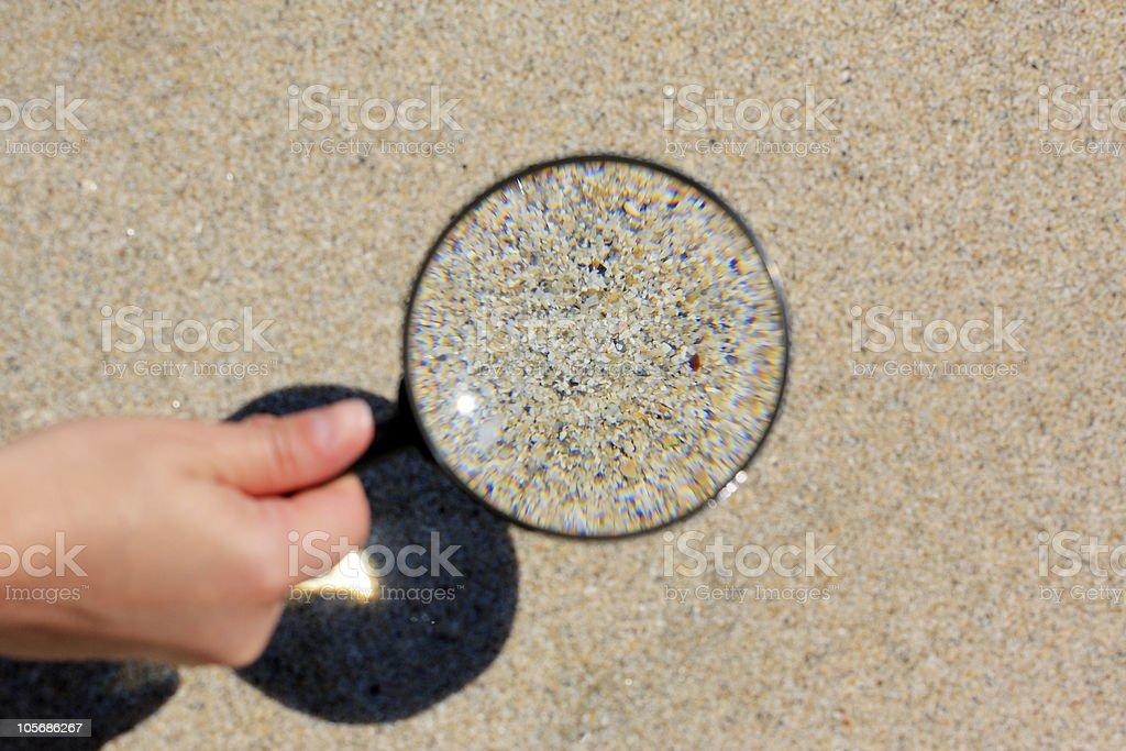 Suche im sand – Foto