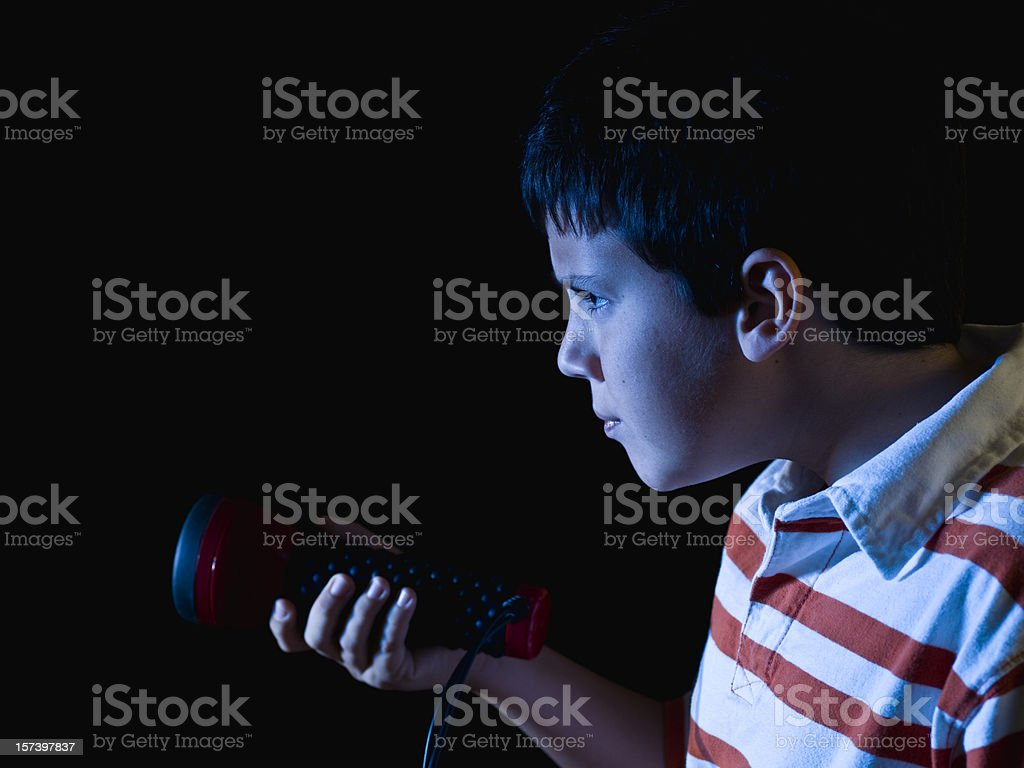 searching in the night royalty-free stock photo