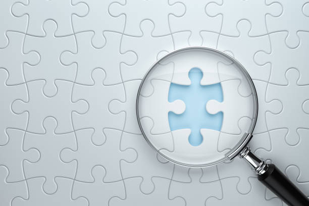 Searching Missing Piece , Jigsaw Puzzle stock photo