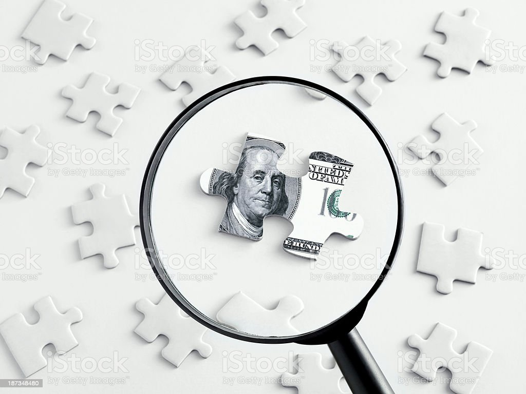 Searching Money stock photo