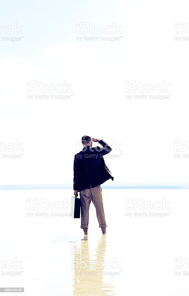 Searching royalty-free stock photo