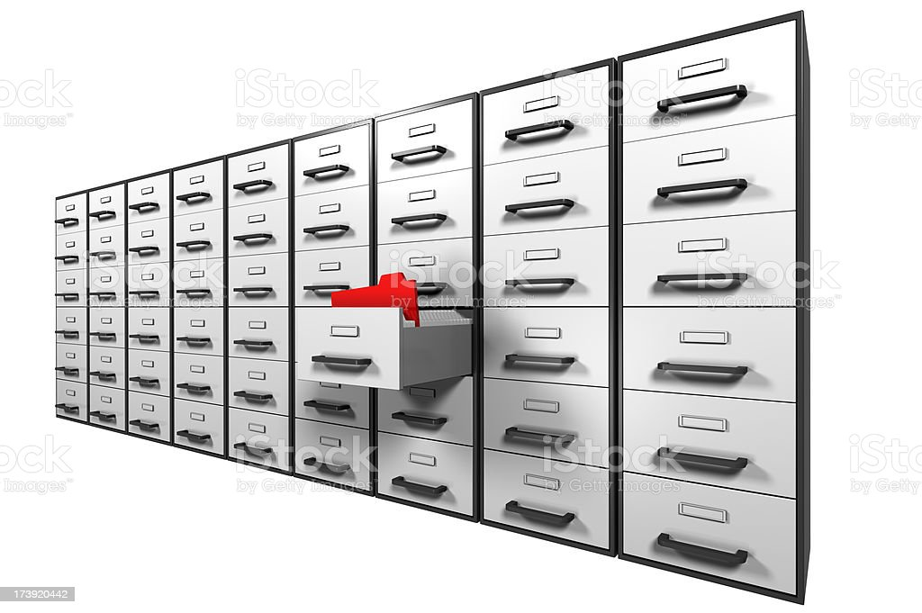 searching the filing cabinet, digital generated royalty-free stock photo