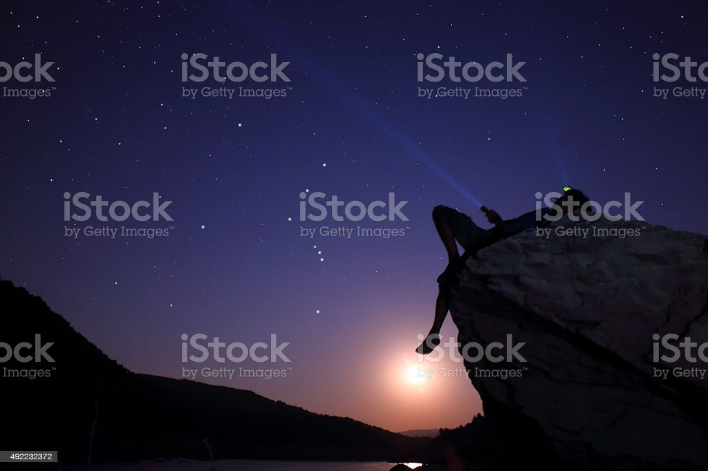 Searching the Galaxy stock photo