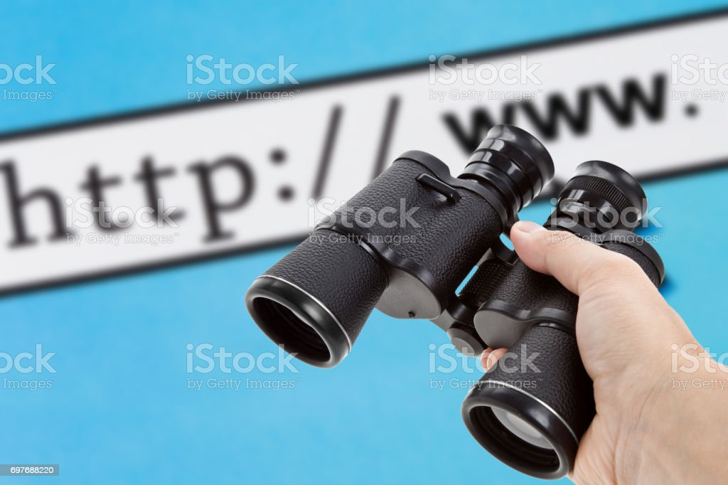 Searching the Internet stock photo