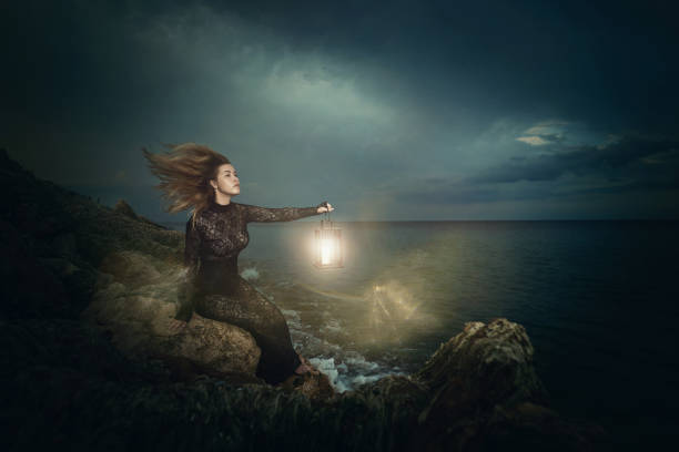 searching the light - gothic fashion stock photos and pictures
