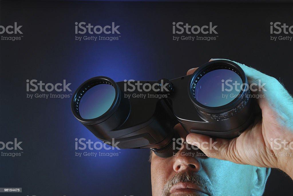 Searching Through Binoculars royalty-free stock photo