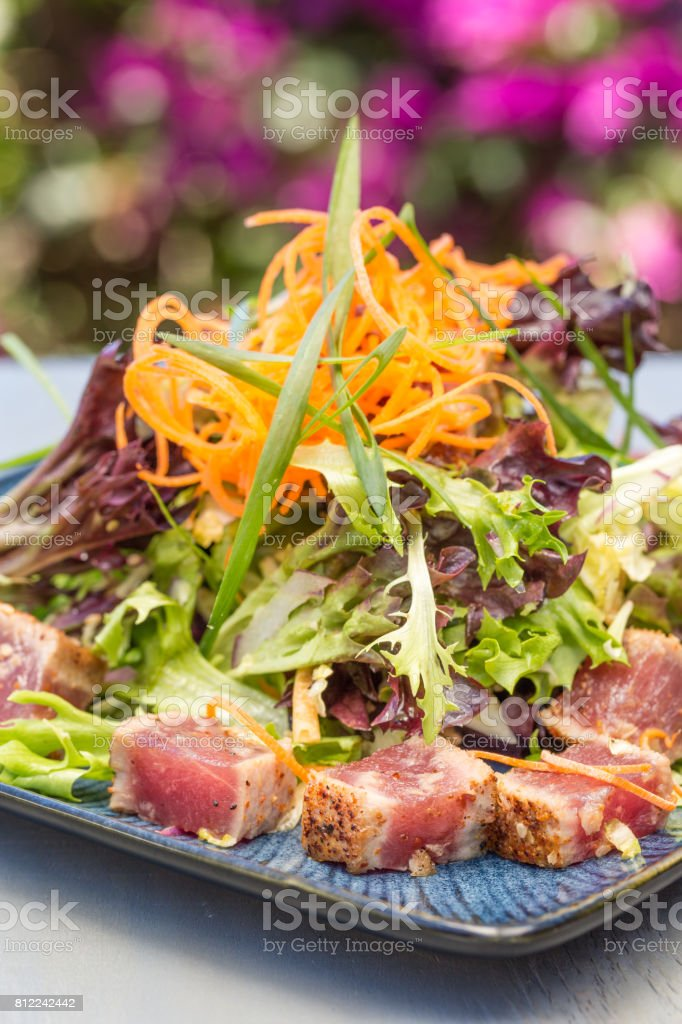 Seared Ahi Salad stock photo
