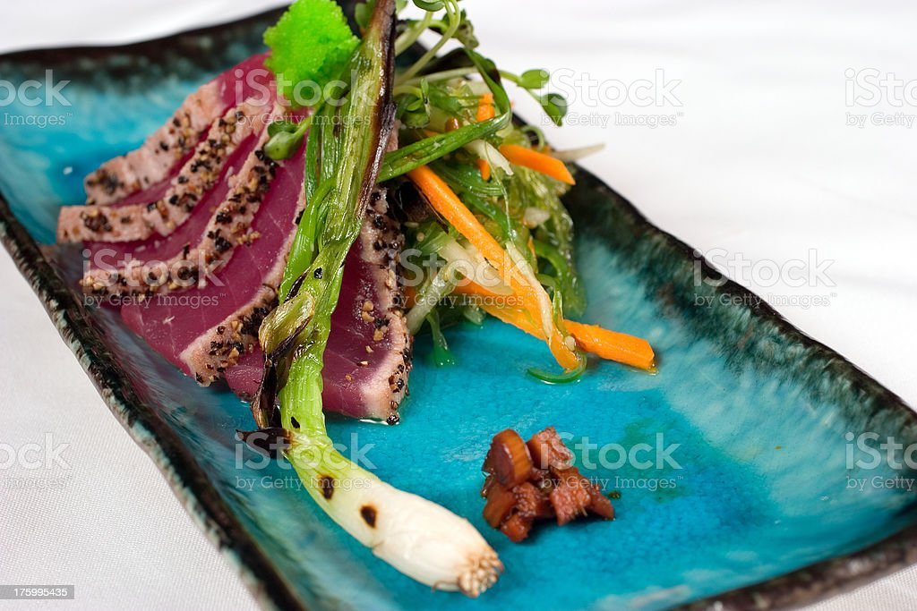 Seared Ahi Tuna stock photo