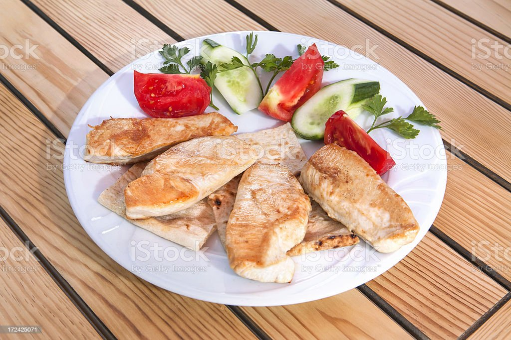 Seared chicken breast royalty-free stock photo