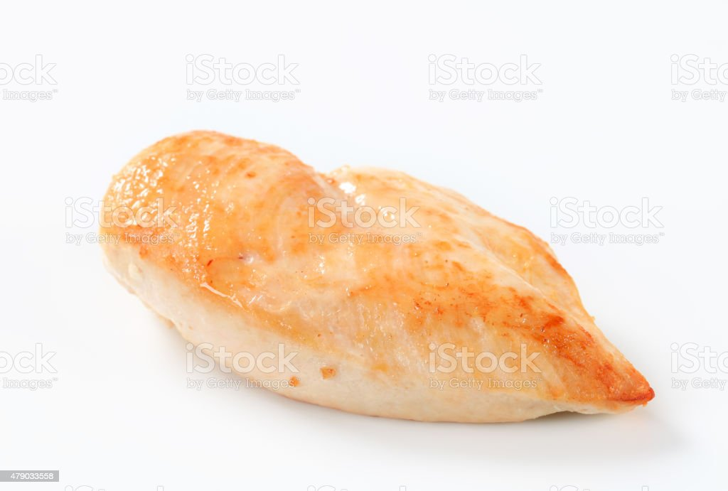 Seared chicken breast stock photo