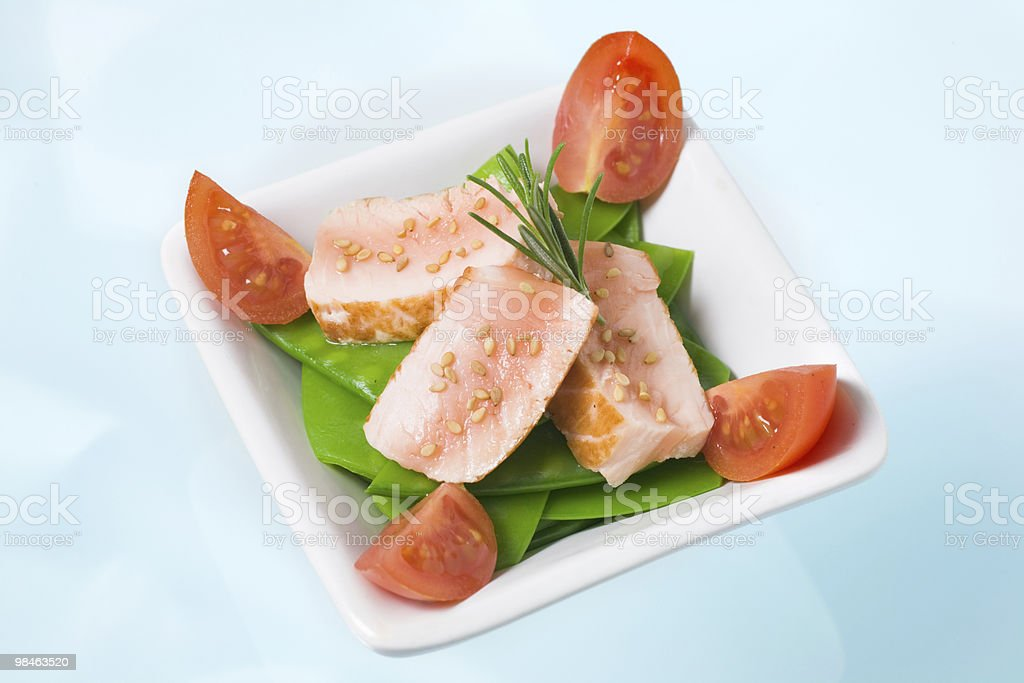 Seared salmon salad royalty-free stock photo
