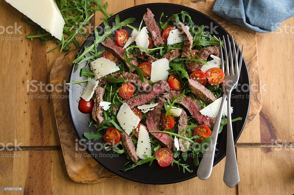 Seared steak salad stock photo