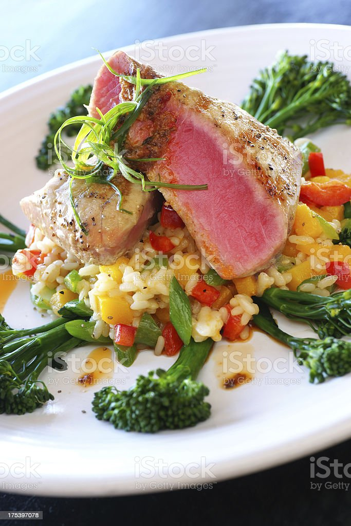 Seared Tuna Filet royalty-free stock photo