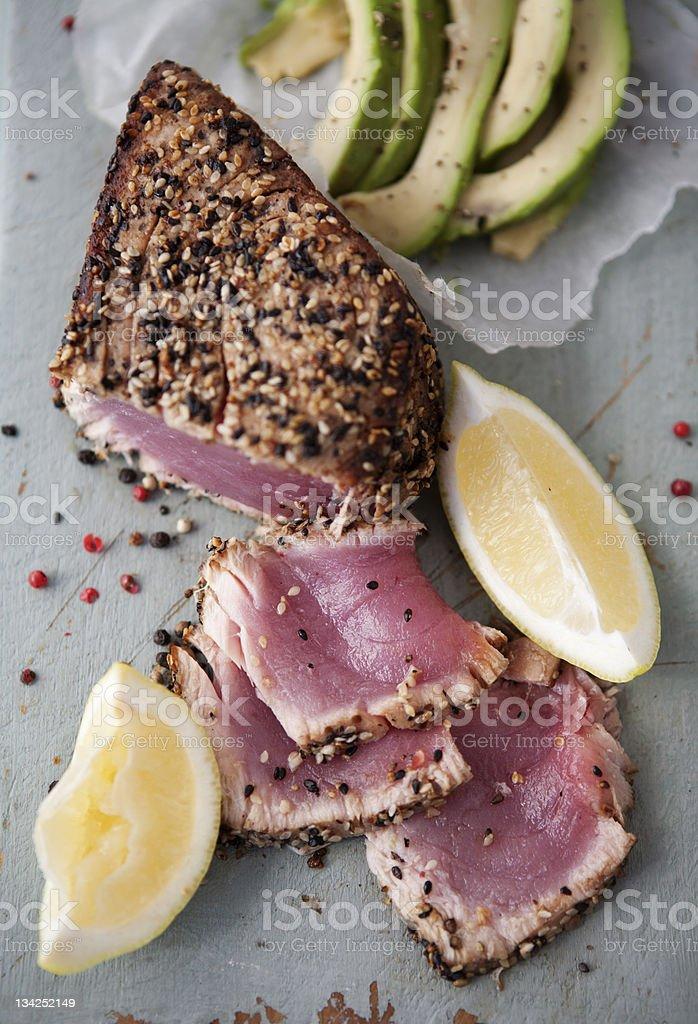 Seared Tuna Fillet royalty-free stock photo