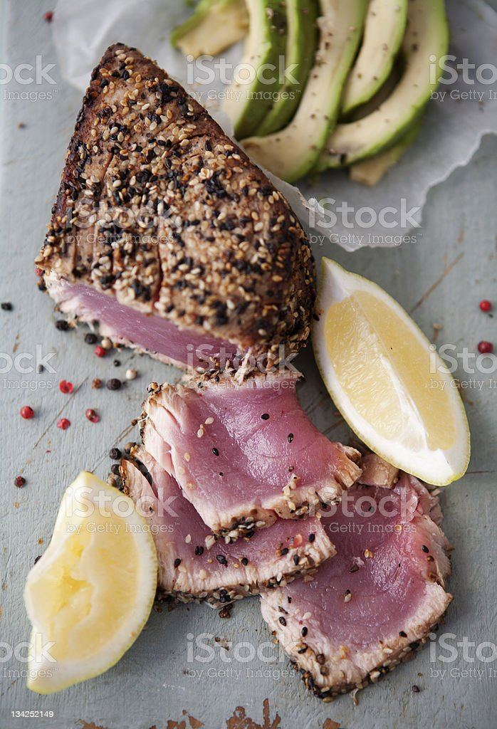 Seared Tuna Fillet stock photo