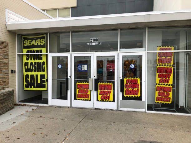 Sears store closing stock photo