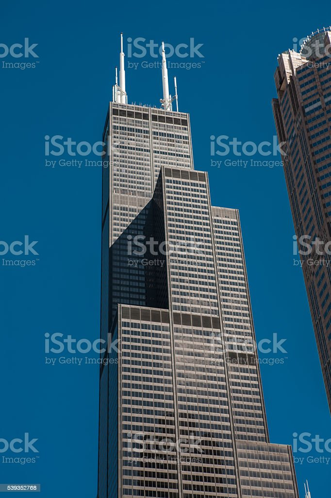 Sears Tower in downtown Chicago stock photo