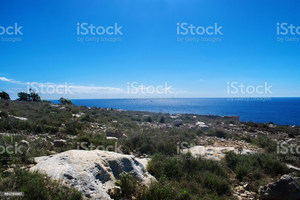 Seascape and Countryside royalty-free stock photo