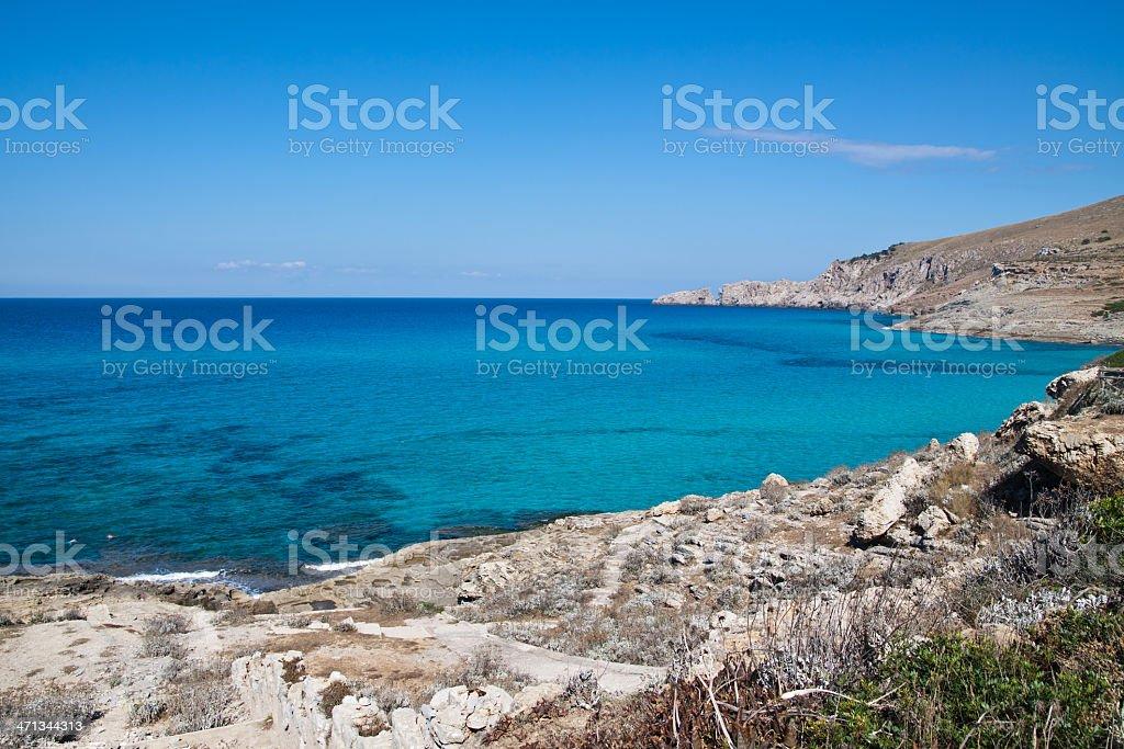 Seascape at Cala Mesquida (Palma de Majorca) Spain stock photo