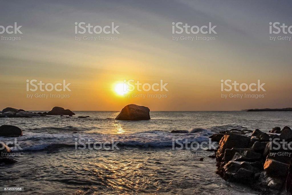 Seascape at Kanyakumari stock photo