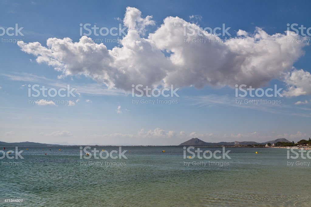 Seascape at Port Pollença (Palma de Majorca) Spain stock photo