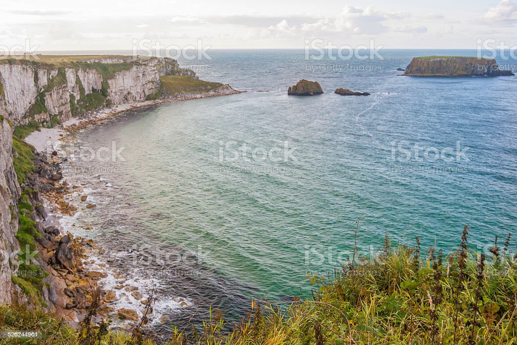 Seascape at The Carrick a rede in Northern Ireland stock photo