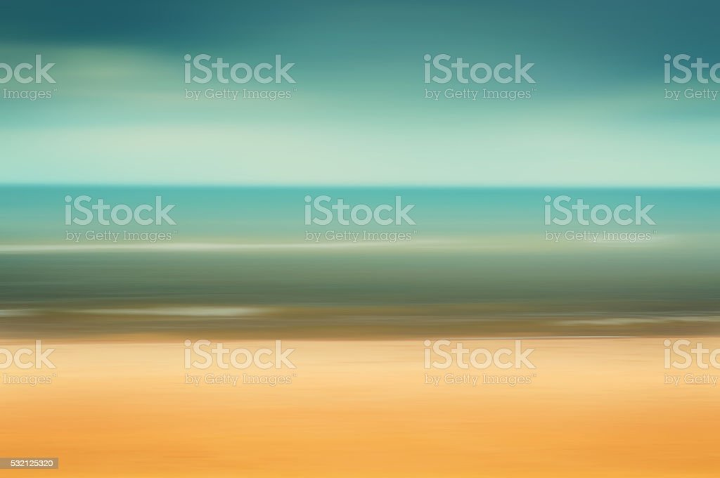 Seascape background blurred motion stock photo