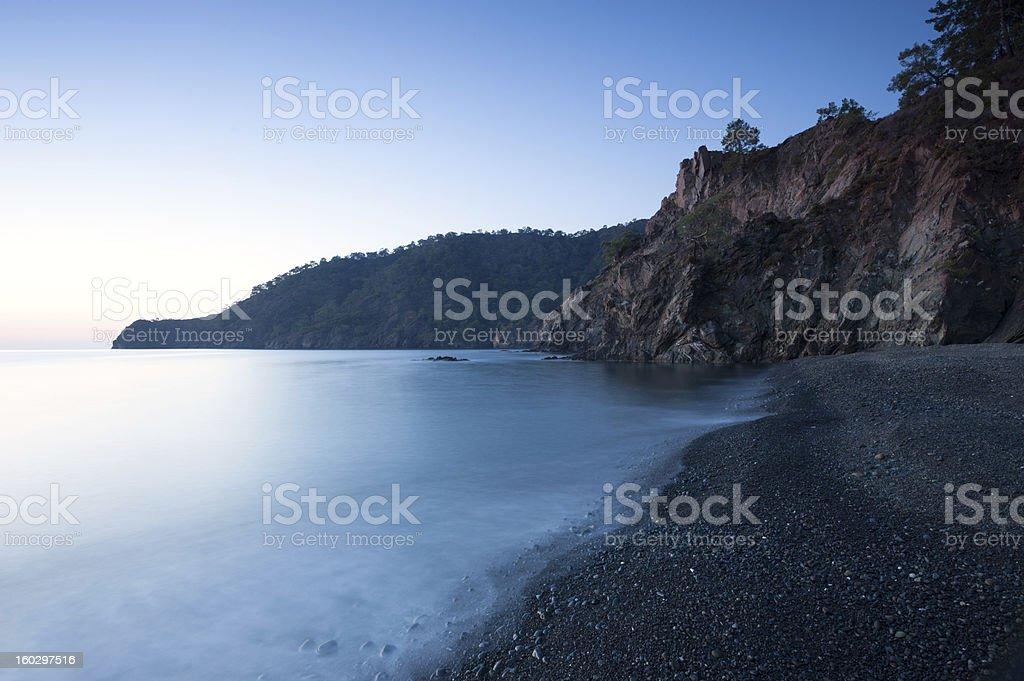seascape before sunrise royalty-free stock photo