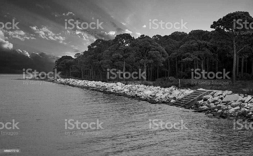 Seascape Gulf Shores Alabama stock photo