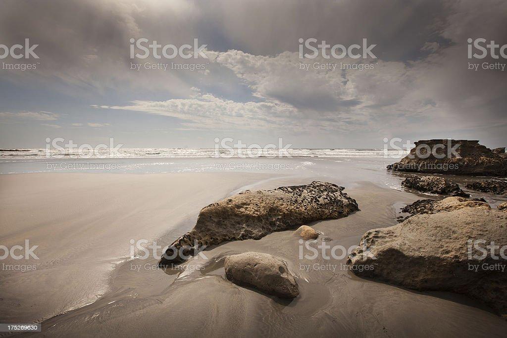 Seascape image,  North West Nelson, New Zealand royalty-free stock photo