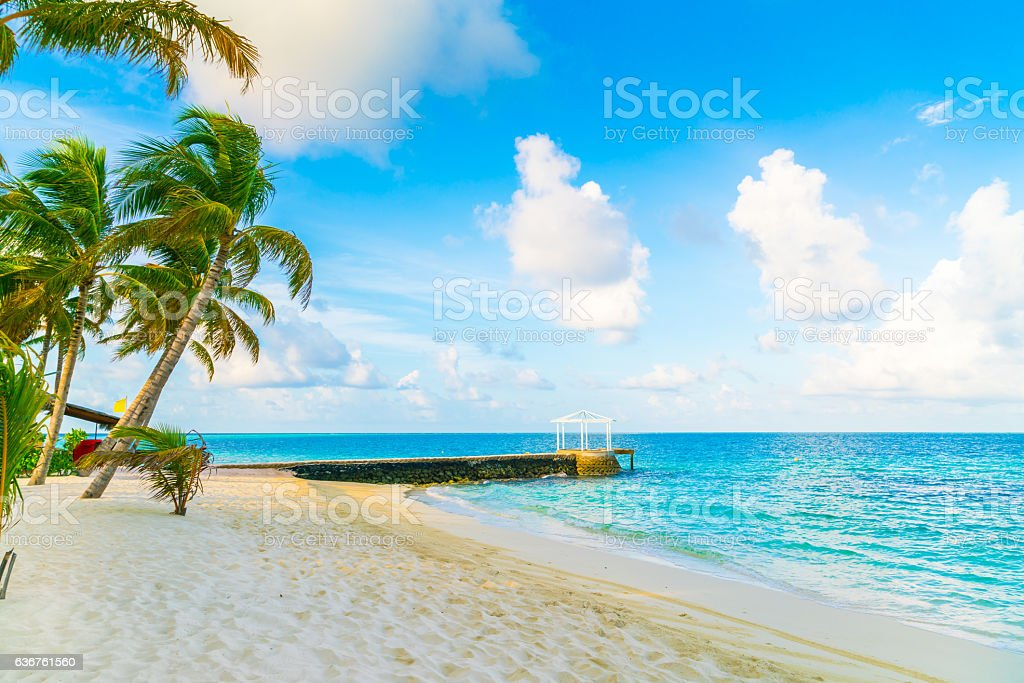 Seascape in Maldives stock photo