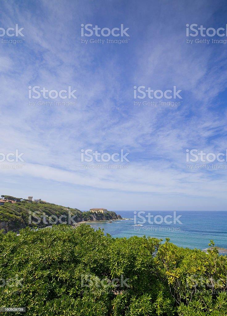 Seascape in Tuscany royalty-free stock photo