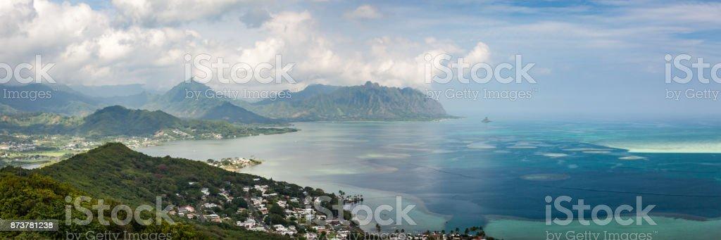 Seascape Kaneohe Bay Oahu stock photo