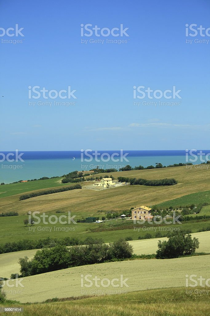 Seascape, Marche royalty-free stock photo
