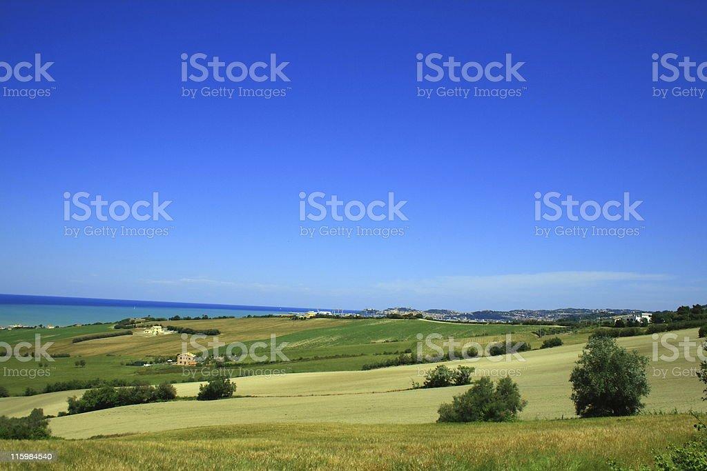 Seascape of Ancona royalty-free stock photo