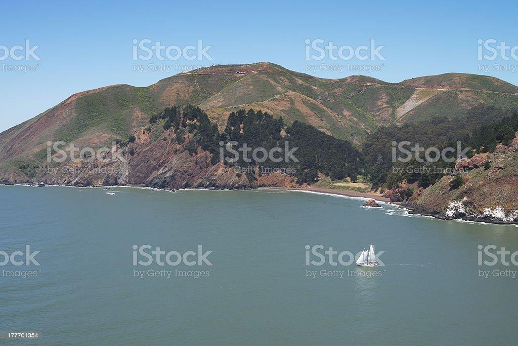 seascape of North California royalty-free stock photo