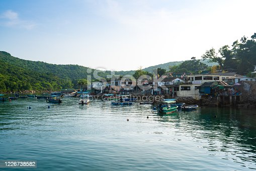 A seascape of Tap Mun or Grass Island where is located in Sai Kung