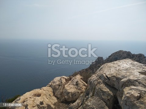 Image of the Mediterranean Sea from a mountain