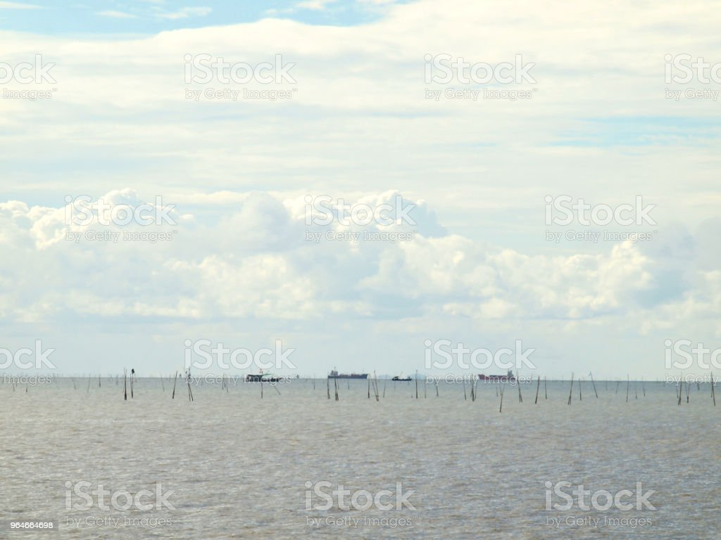seascape on blue sky royalty-free stock photo