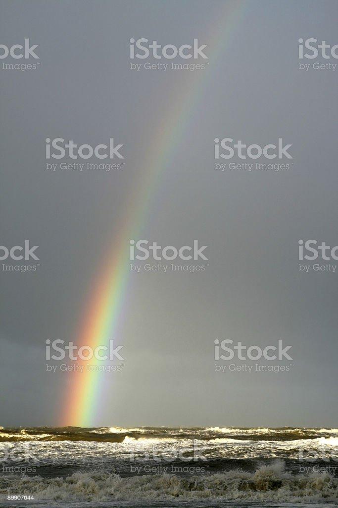 Seascape Rainbow royalty-free stock photo