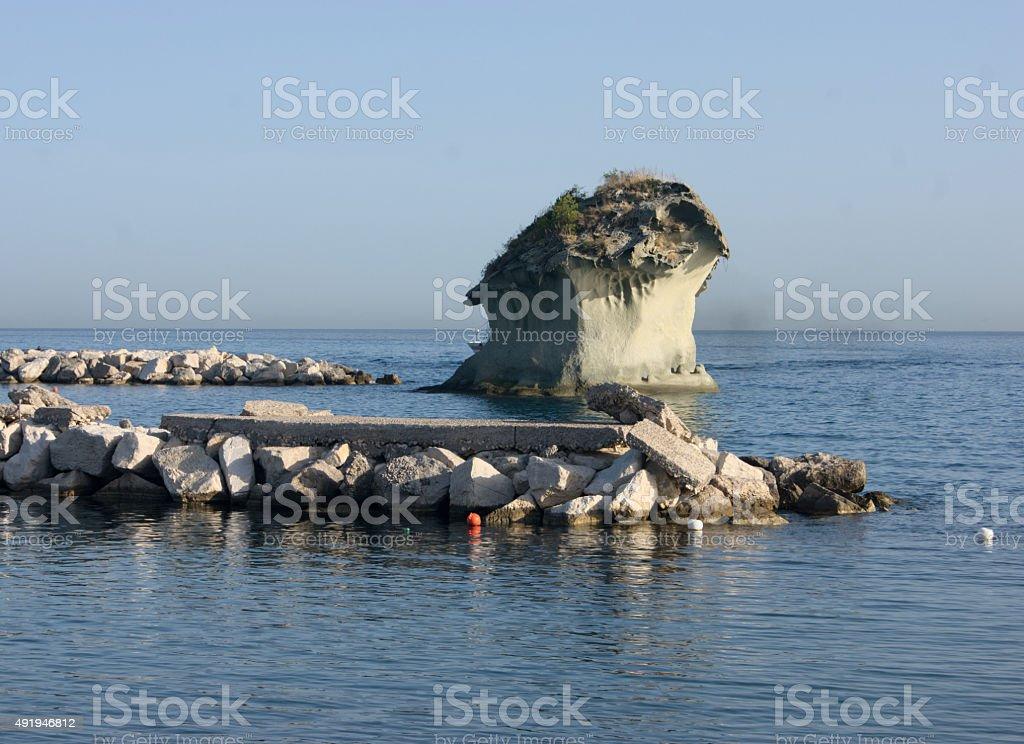 Seascape rom Casamicciola Terme, Ischia, Italy stock photo