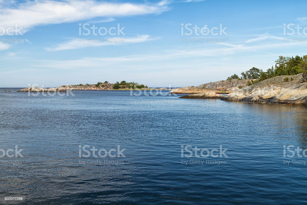 Seascape, Stockholm archipelago. stock photo