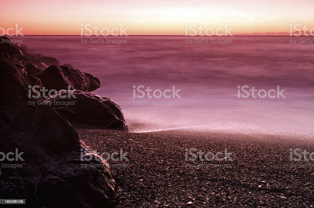 Seascape sunset stock photo