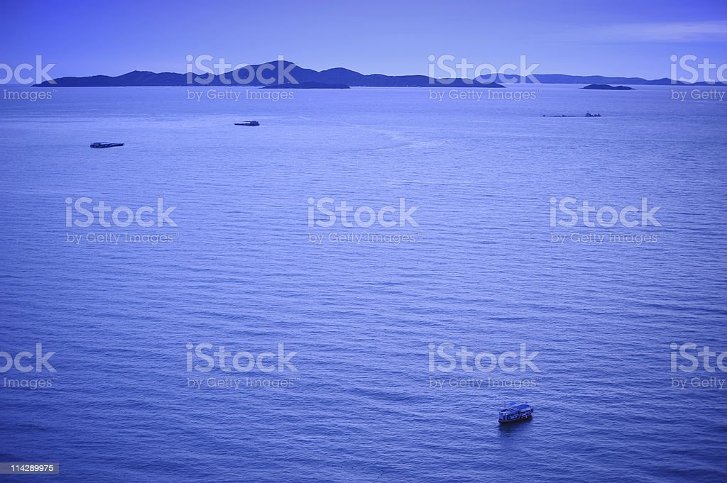 Seascape view of Pattaya, Thailand stock photo
