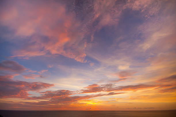 Seascape view Seascape view from Laem Phrom Thep Phuket , Thailand twilight stock pictures, royalty-free photos & images