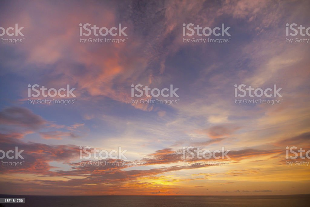 Seascape view stock photo