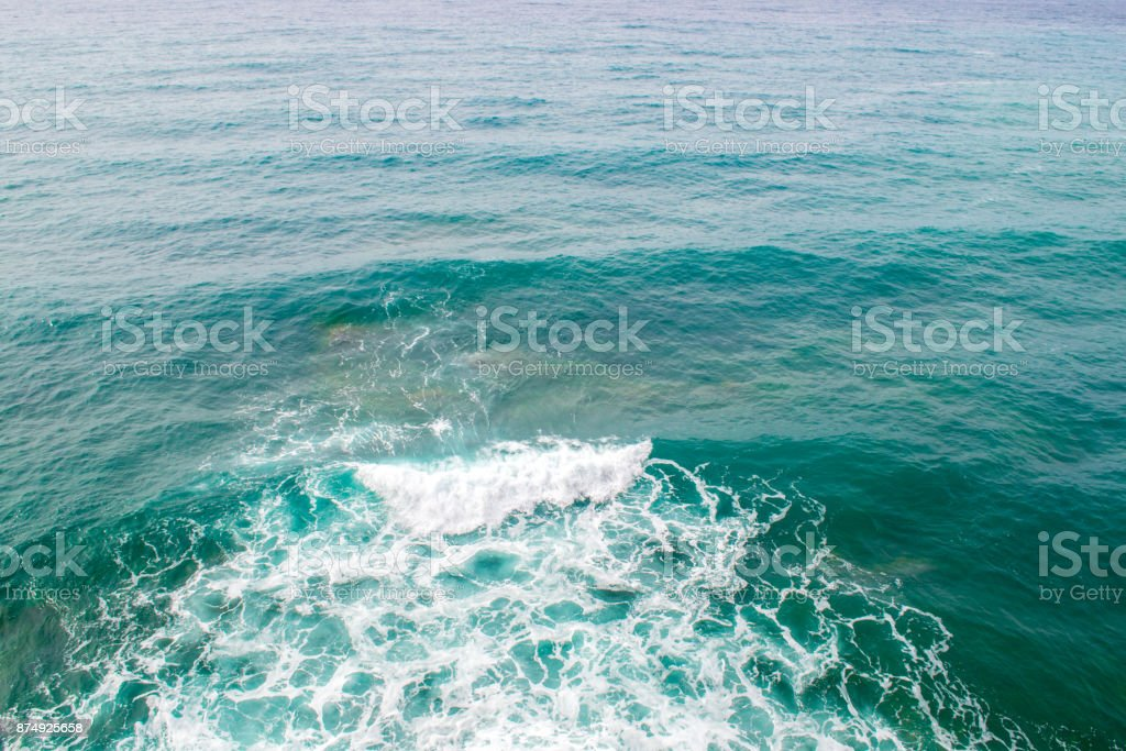 Seascape. Wave and foam. The sea is green. Adriatic Sea stock photo