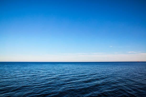 바다 수평선-배경으로 바다 경치 - 바다 뉴스 사진 이미지