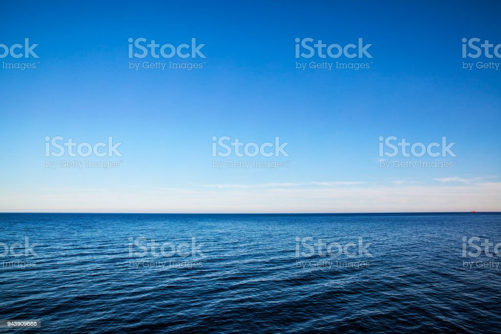 Seascape with sea horizon - Background stock photo